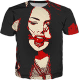 You said something dear? Erotic pop art, submissive girl gagged, naughty BDSM erotic tee shirt