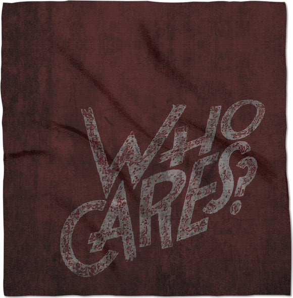 So.. Who cares? Dark red, scarlet color bandana, wall art grafitti style kerchief, scarf
