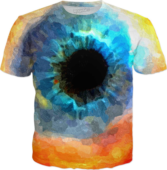 Eye of the God nebula tee shirt, colorful galaxy design, space themed