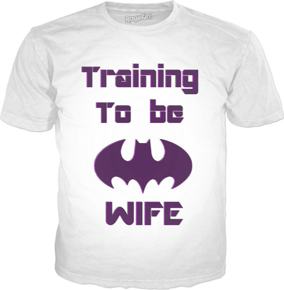 Training to be The Bat's wife, funny classic t-shirt, white tee