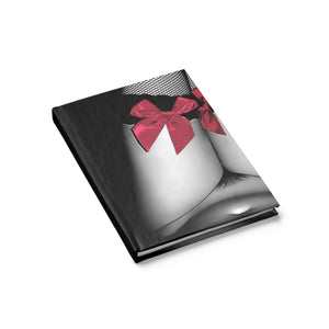 Hardcover Journal - Ruled Line - Red ribbons, dirty posing