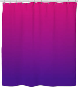 Red, purple colors gradient shower curtain, two color bathroom accessory design