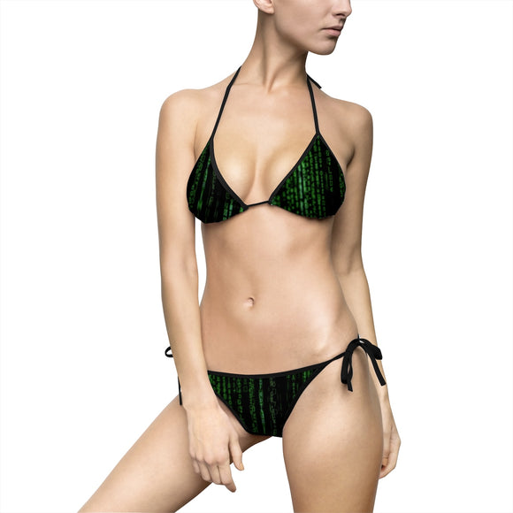 Women's Bikini Swimsuit Set - Enter the Unimatrix, dark colors