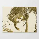 Sexy Erotic Art Canvas Print - Dirty gay Girls, kinky games, lesbian woman artwork