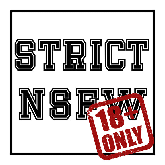 Strict +18 Erotic Art Canvas Print - Two words to