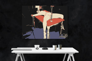 Fetish Erotic Art 200gsm poster - Master, dinner is served... Kinky submissive