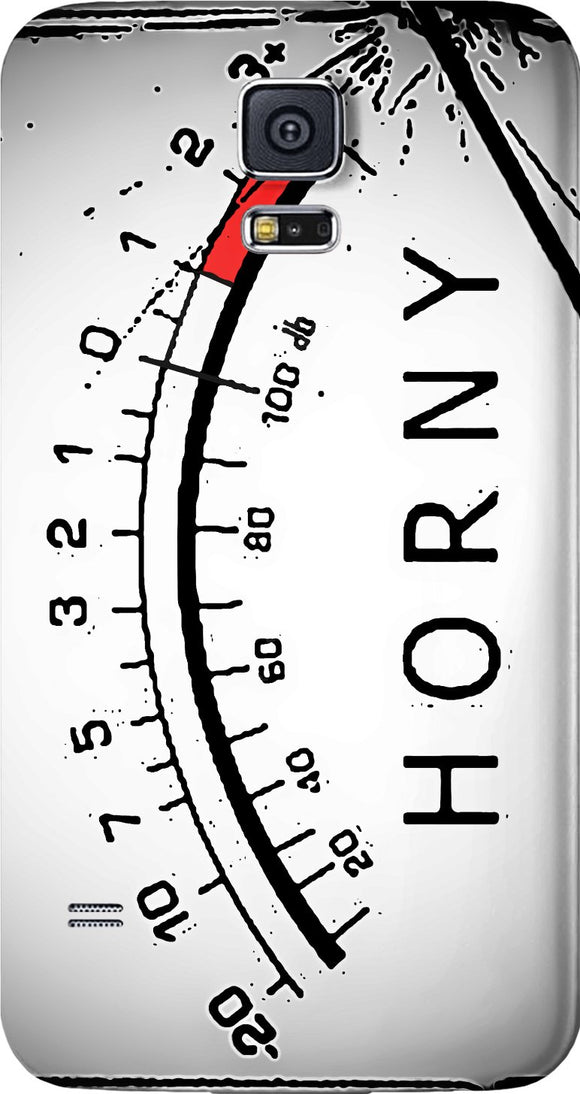 Horny out of scale Samsung Galaxy mobile case, broken music volume meter, equalizer