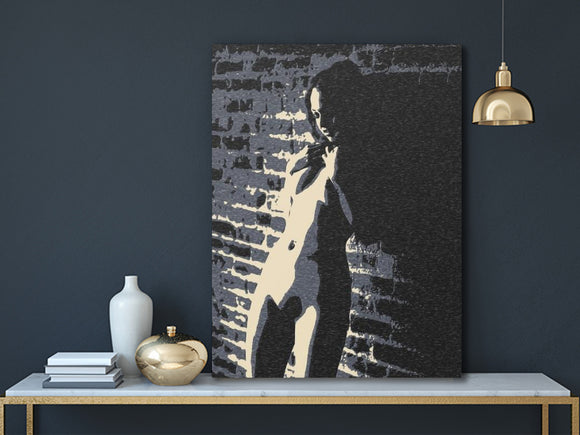 Sexy Art Canvas Print - Alone in the Dark, surreal sketch, erotic nude