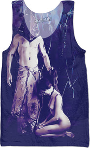 Welcome to Silent Hill - Pyramid Head erotic, sexy horror themed gamer all-over-print tank top design