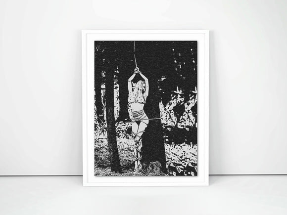 Kinky Giclée art print, Gallery quality - Fetish Nymph in forest