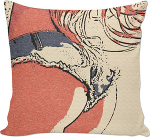 Naughty country girl, sexy jeans shorts, perfect round booty throw pillow design