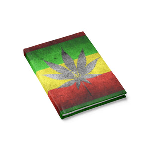 Hardcover Journal - Ruled Line - 4:20 weed and flag