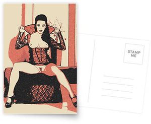 Erotic Postcard, Greeting Card, Photo Card - Sexy Halloween Vampirella girl