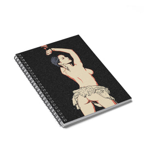 Spiral Notebook - Ruled Line - Bound and sexy, submissive tied