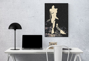 Erotic Art 200gsm poster - Chains in the Dark, erotic nude poster, sexy slave girl artwork, hardcore fetish fantasy