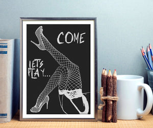 Giclée art print, Gallery quality - Come, let's play... In naughty, dirty, kinky way!