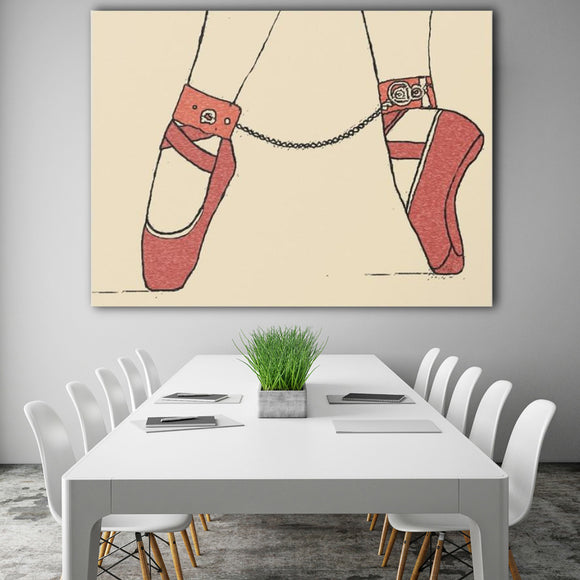 Sexy Art Canvas Print - Dance for me, bondage erotic