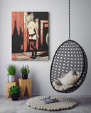 "Fetish Erotic Art Canvas Print - How are you ""hanging"" Honey?"