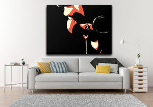 Sexy Art Canvas Print - Said something? Bondage erotic