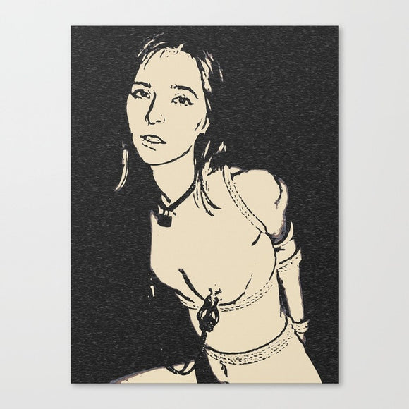 Sexy Art Canvas Print - Broken Innocence, dark erotic, BDSM artwork