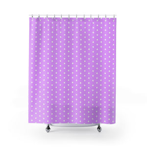 Vintage Shower Curtains - Pastel pink, retro polka dots