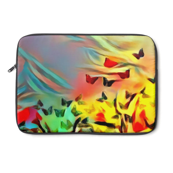 Laptop Sleeve, Carry Bag, 3 sizes - Abstract butterflies
