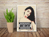 Sexy Art 200gsm poster - Dirty selfie, big breast girl, attention w...re style, social media joke