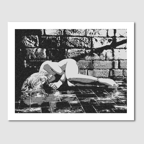 Giclée art print, Gallery quality - Abducted, fetish dungeon