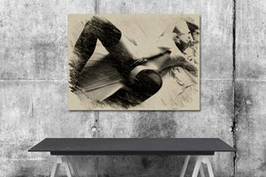 Kinky Erotic Art Canvas Print - Fetish posing in charcoal style