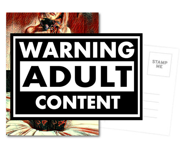 Naughty Postcard, Greeting Card, Photo Card - Sexy fetish teaser
