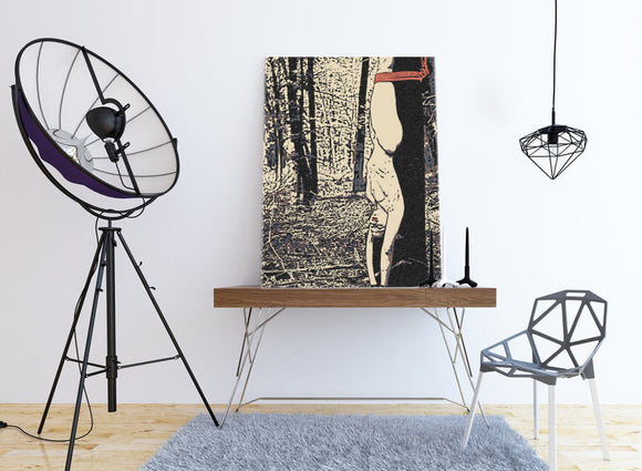 Fetish Erotic Art Canvas Print - So, how are you hanging sexy? Shibari bondage
