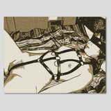 Sexy Erotic Art 200gsm poster - Good Slave girl in bedroom, tied up submissive