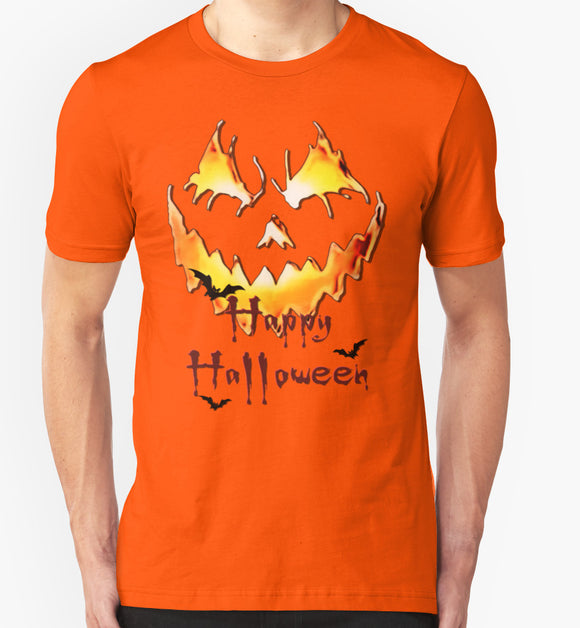 Unique Halloween Party T-shirt - Jack'o'Lantern Happy Halloween - 2nd pool of colors