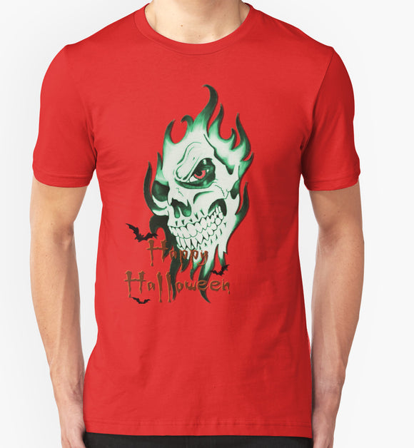 Unique Funny T-shirt - Demonic Halloween Skull 1st pool of colors