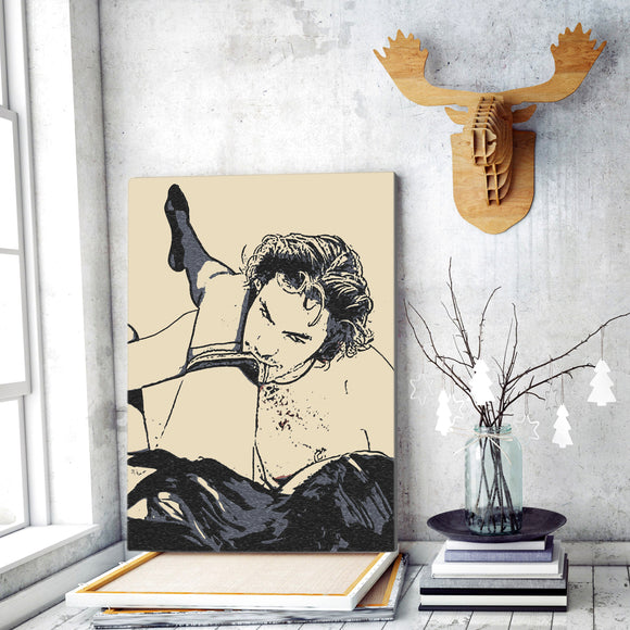 Sensual Erotic Art Canvas Print - Honey, get ready, we will play now... Naughty, kinky, dirty games