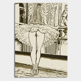 Sexy Erotic Art 200gsm poster - Sweetest Perfection, naughty ballerina dancer booty view