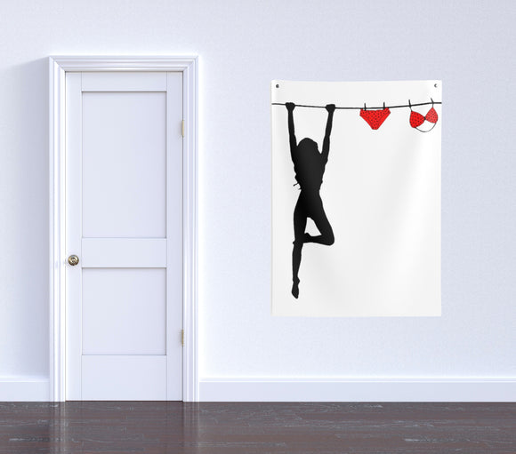 Indoor Wall Tapestries - Because Laundry is a Pain, kinky vector