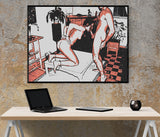 Strict +18 Erotic Art 200gsm poster - I will pleasure you my Master