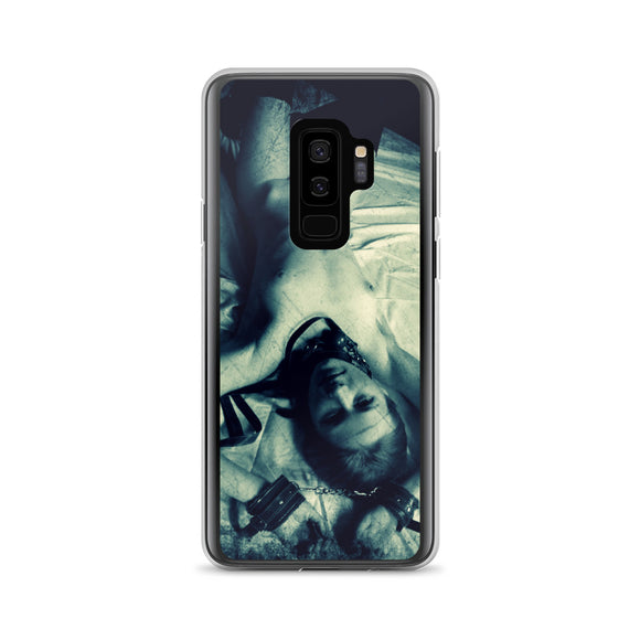 Samsung Galaxy Solid Case - Dirty posing, sexy slim submissive girl