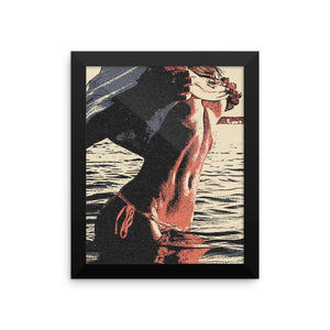 Adult Art Premium Luster Photo Paper Framed Poster - Sexy tease