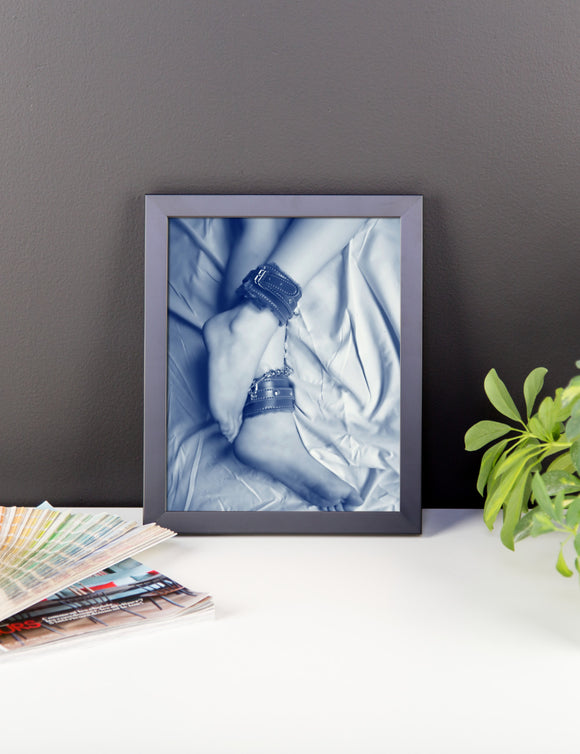 Adult Art Premium Luster Photo Paper Framed Poster - Feets and cuffs