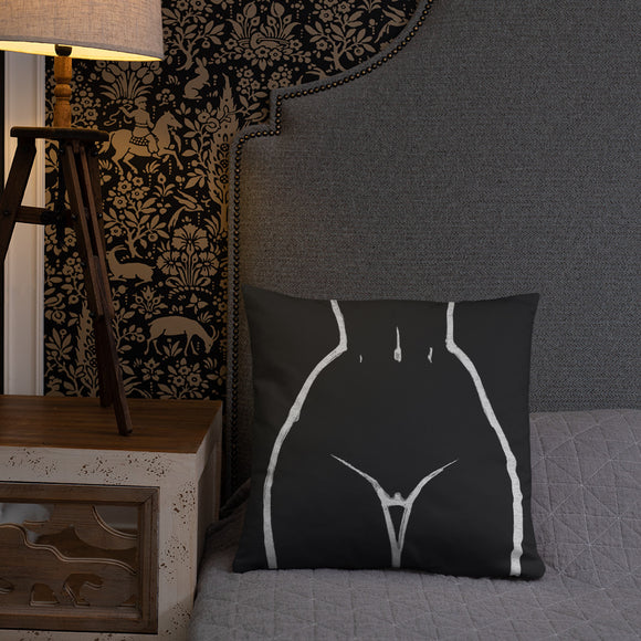 Stylish Pillows with insert, home decor - Front and back, kinky womens body minimal artwork