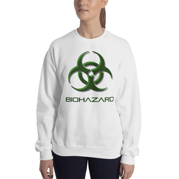 Unisex Fit Heavy Blend Gildan Sweatshirt - Biohazard sign, toxic fallout warning