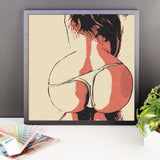 Adult Art Premium Luster Photo Paper Framed Poster - Round Booty