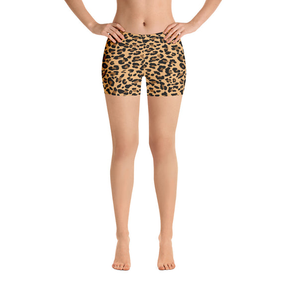All-over-print Sport Shorts - Leopard spots pattern