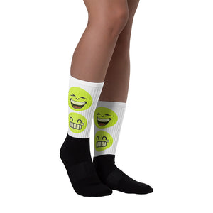 Funny Sublimated Socks - Happy Emoji faces
