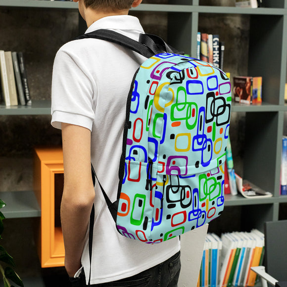 Stylish all-over-print unisex backpack - 1950s nostalgy
