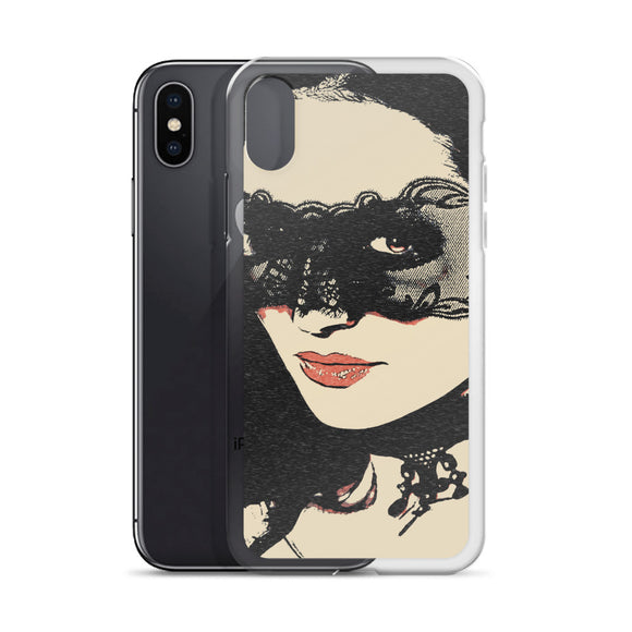 Apple iPhone Solid Case - Dark fetish masquerade, sexy masked girl