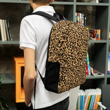 Stylish all-over-print unisex backpack - Leopard spots pattern