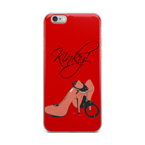 Apple iPhone Solid Case - Kinky red, girls best friends